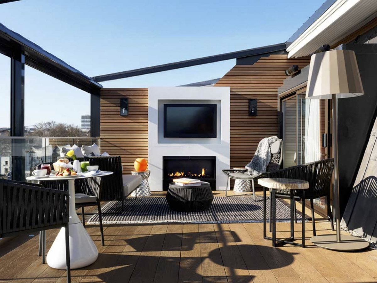 Roof terrace at the marylebone hotel london for Terrace hotel london